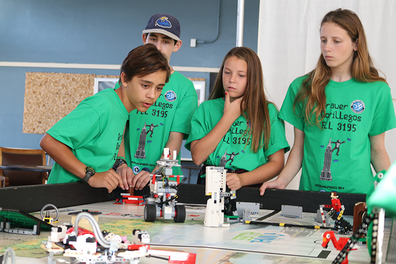 a small school STEM robotics team