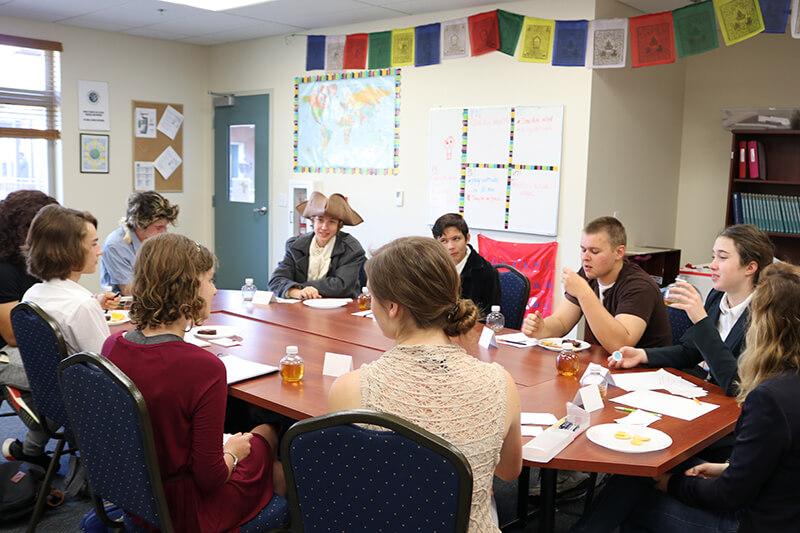 a small social studies classroom