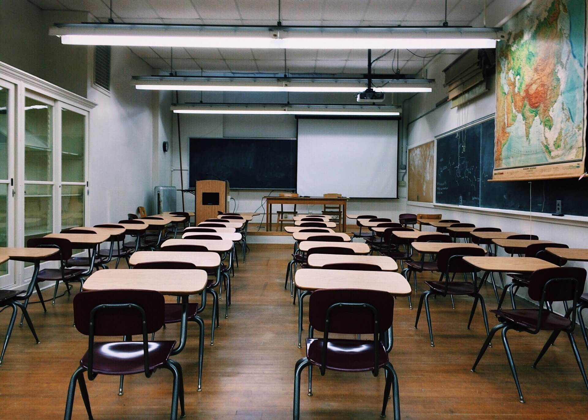 a very large classroom