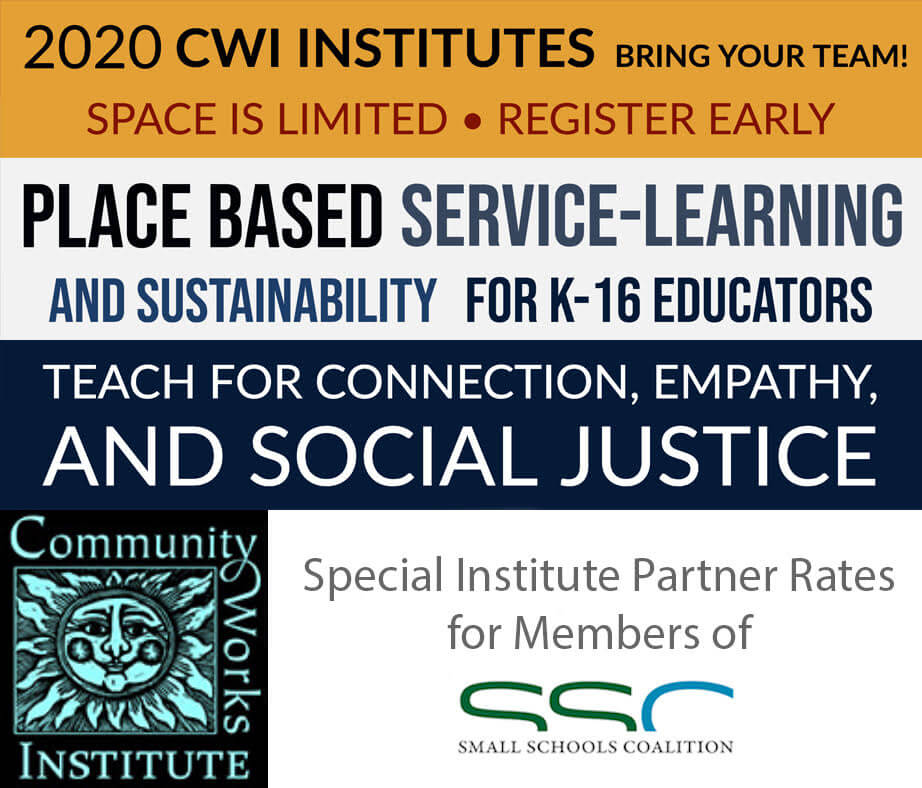Small Schools Coalition - Community Works Institute Partnership Ad